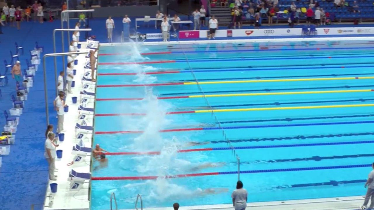 Swimmer's touching Barcelona tribute