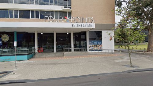The security guard who tested positive was working at the Four Points Sheraton hotel in Perth.