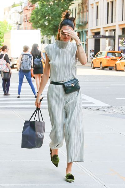 Kendall with her Chanel bum bag in New York on June 2.