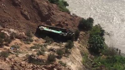 At least 44 dead as bus veers off cliff