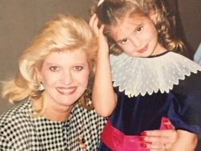 A young Ivanka Trump with her mother Ivana
