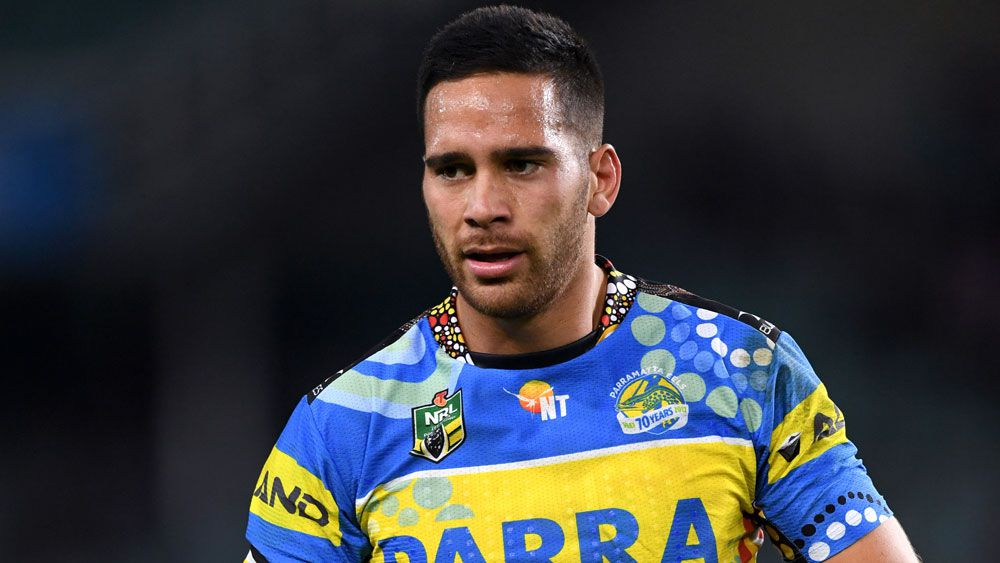 Parramatta Eels' Corey Norman hurt in NRL loss to Sydney Roosters