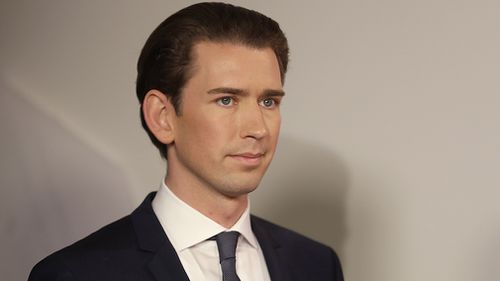 Kurz, 31, claimed his win based on early projections. (AAP)
