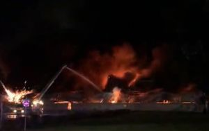 Over sixty firefighters battle huge fire that engulfed Melbourne factory
