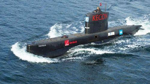Peter Madsen's UC3 Nautilus before it sank.