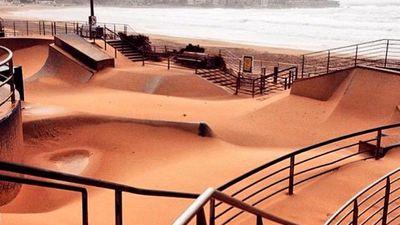 Bondi Beach skate park. (Twitter - @MikePuncheon)