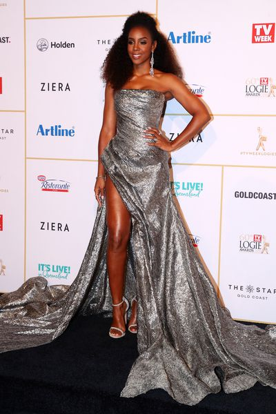 Singer Kelly Rowland at the 2018 Logie Awards