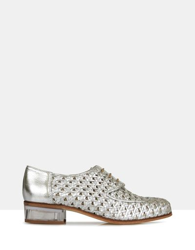 "Beau Coops woven leather lace-up, $449 at <a href=""http://www.theiconic.com.au/edie-woven-leather-lace-up-441160.html"" target=""_blank"">The Iconic<br> </a>"