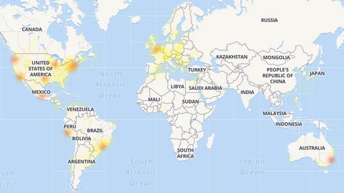 Users around the world reported the outage.