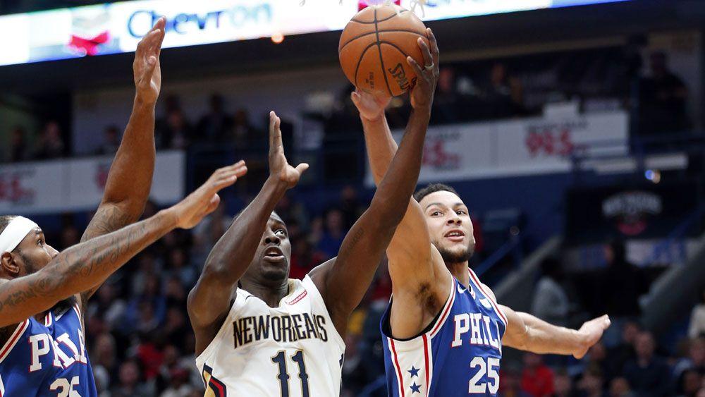 Aussie Ben Simmons can't prevent Philadelphia 76ers NBA defeat to New Orleans Pelicans
