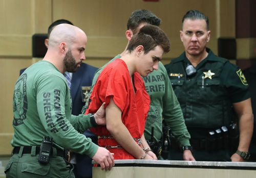 Cruz is facing the death penalty for the shooting which rocked the Florida suburb of Parkland. Picture: AAP