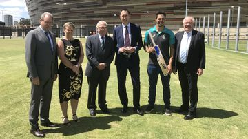 Cricket will christen the new Perth stadium in January. (AAP)