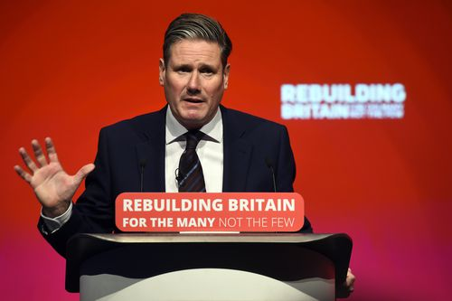 """To huge cheers, Starmer said """"Nobody was ruling out Remain as an option""""."""