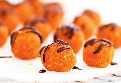 Apricot and chocolate balls