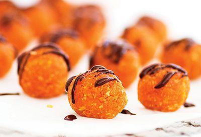 Apricot and chocolate balls