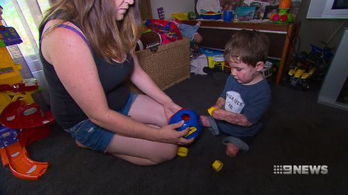 Riley's mother, Amy Wales, said more needs to be done to protect children from potentially deadly infectious diseases. (9NEWS)