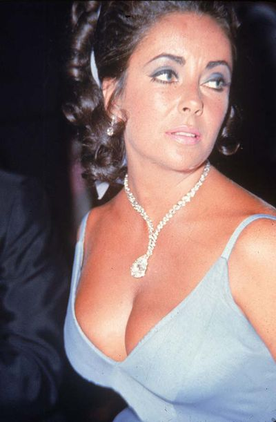 Dame Elizabeth Taylor at the Oscars Ball in 1970.