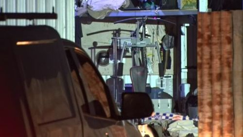 Mr Harvey and his two sons were killed in an accident in the family shed. Picture: 9NEWS