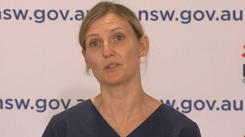 Nurse, NSW COVID press conference August 16