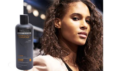 "Models had their hair washed with <a href=""http://www.tresemme.com.au/product/category/983807/perfectly-un-done"" target=""_blank"">Tresemme's (un)Done lightweight shampoo and conditioner</a> to create a great base for effortless waves at Herve Leger by Max Azria."