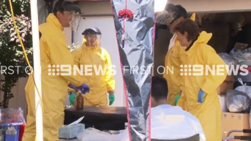 """A man has been arrested after police discovered a """"clan lab"""" in Adelaide. (9NEWS)"""