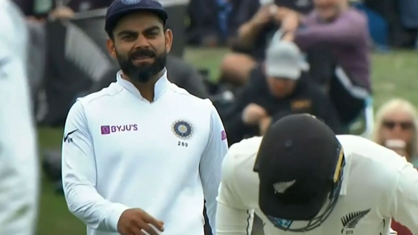 India have been accused of using a questionable tactic against New Zealand. (Twitter)