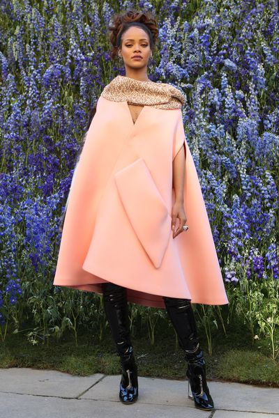 Rihanna in Dior at the Dior S/S' 16 show in Paris France, September 2015