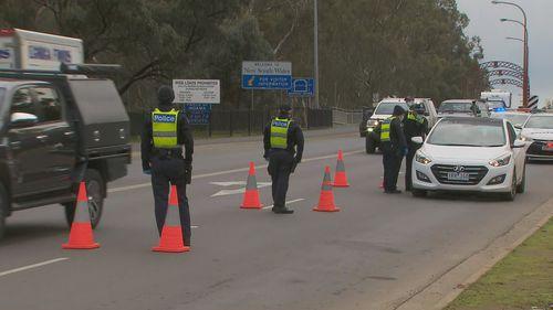 Victoria border checkpoints