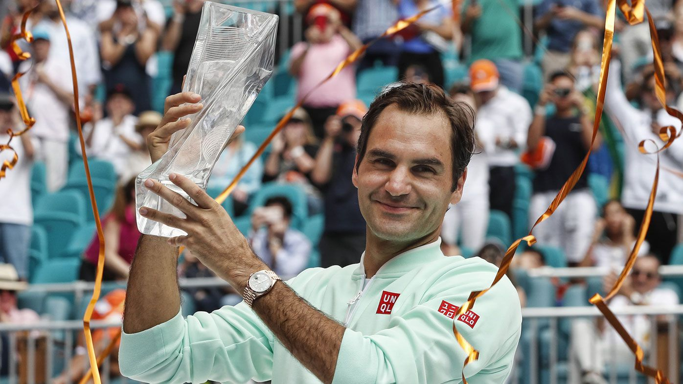 Roger Federer beats hurt John Isner for 101st title, winning Miami Open
