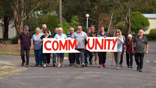 Caravan park residents have protested their eviction.
