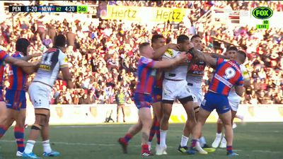 NRL: Penrith Panthers and Newcastle Knights fight in vicious all-in brawl