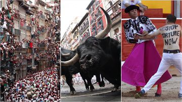 Hundreds of thousands have flocked to the streets of Pamplona to participate in the running of the bulls festival.