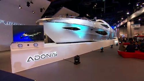 An Australia-made yacht is the first one to be shown at the Consumer Electronics Show in Las Vegas.