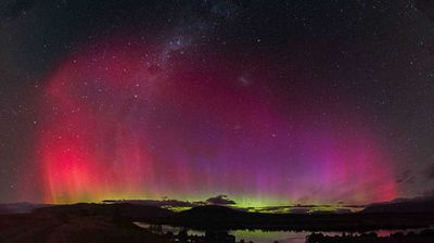 Normally the lights are visible from New Zealand and Tasmania, however they were also visible from NSW and Western Australia early Wednesday morning. (RDVB Photography)