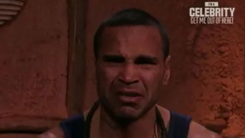 Mundine broke down in tears at one point during his appearance on the show. (Supplied)
