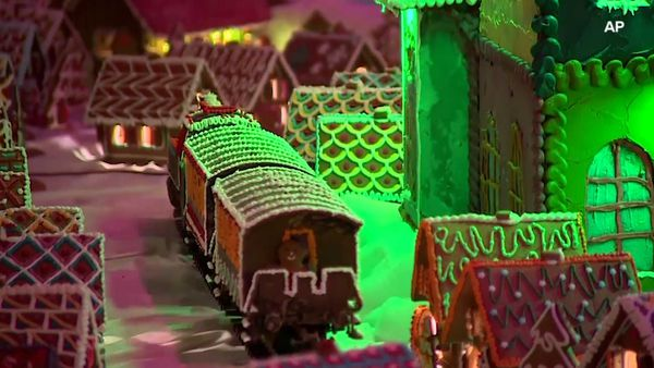 Polish town made from gingerbread
