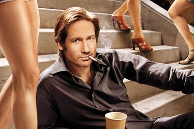 """<div align=""""left""""><B>Played by:</b> David Duchovny.</p><br/>As you'd expect from the lead character of a show with 'fornication' in the title, Hank is addicted to sex. Massively. He's constantly dealing with the consequences of his inability to say """"no"""", you'd think that'd be enough to encourage him to learn some self-restraint…</div>"""