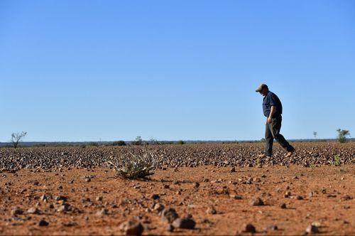 Pastoralist Zane Turner at Goodwood Station near Whitecliff, NSW.