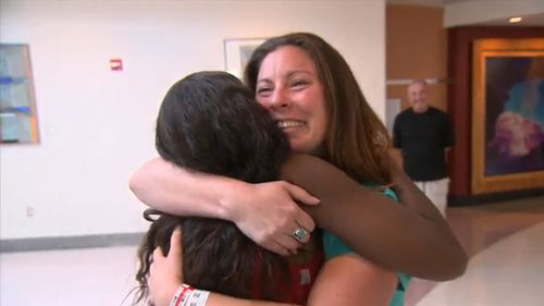 Sara Fleming from St Louis answered Ms Allen's call for a kidney donor knowing she or someone in her family may one day need a donor themselves. (Today.com)