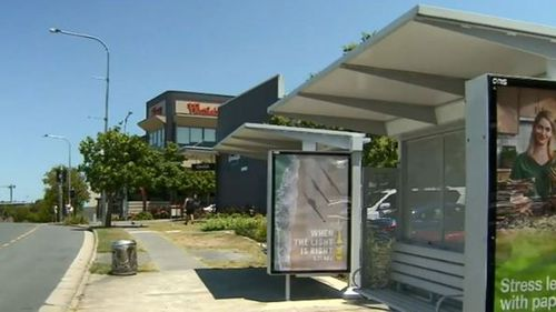The bus stop on Milaroo Drive Helensvale