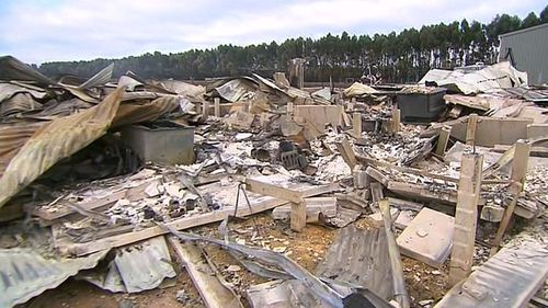 Nothing is left of their property, with the entire home destroyed. (9NEWS)