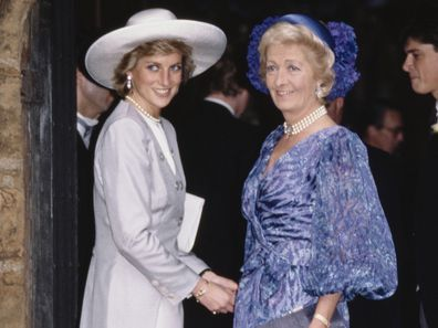 Princess Diana with her mother Frances Shand Kydd