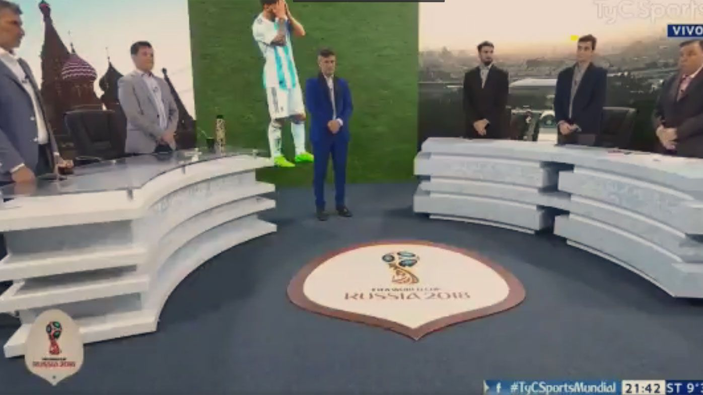 Argentina TV show holds minute's silence for national side after World Cup loss