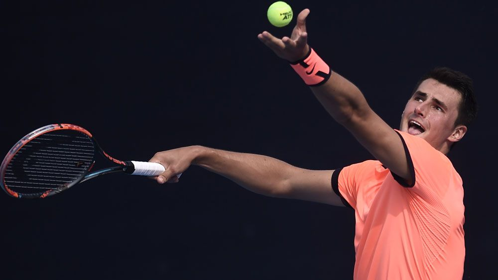 Bernard Tomic lasted just 48 minutes in a loss in China. (Getty Images)