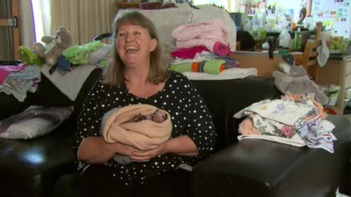 Julie Malherbe is now caring for the twins at her rescue shelter. (9NEWS)