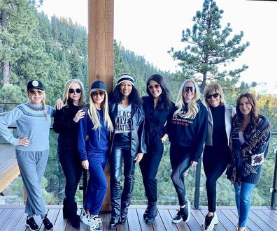 The Real Housewives of Beverly Hills cast during their trip to Lake Tahoe, California.
