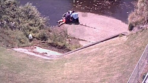 The pair were arrested in a Wollongong canal. (NSW Police)