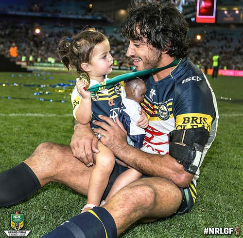 Thurston shares touching moment with daughter after grand final win