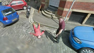 the apparent murder captured by a Google Street View camera (Google).