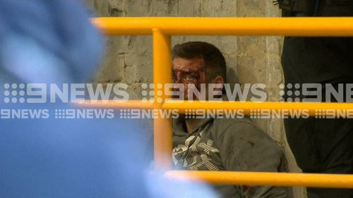 Jonathan Dick was arrested after an assault on Hosier Lane this morning.